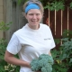Janine holding broccoli
