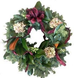 wreath mag hy burg bow
